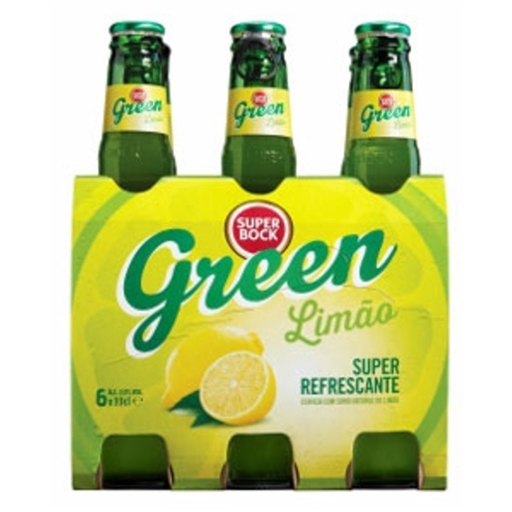 Super Bock Green Limão/ Super Bock bier Green Citroen 6 x 33 CL.