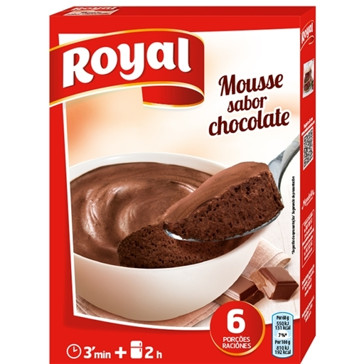 Mousse sabor Chocolate Royal / Chocolade Mousse Royal 158 Gr.